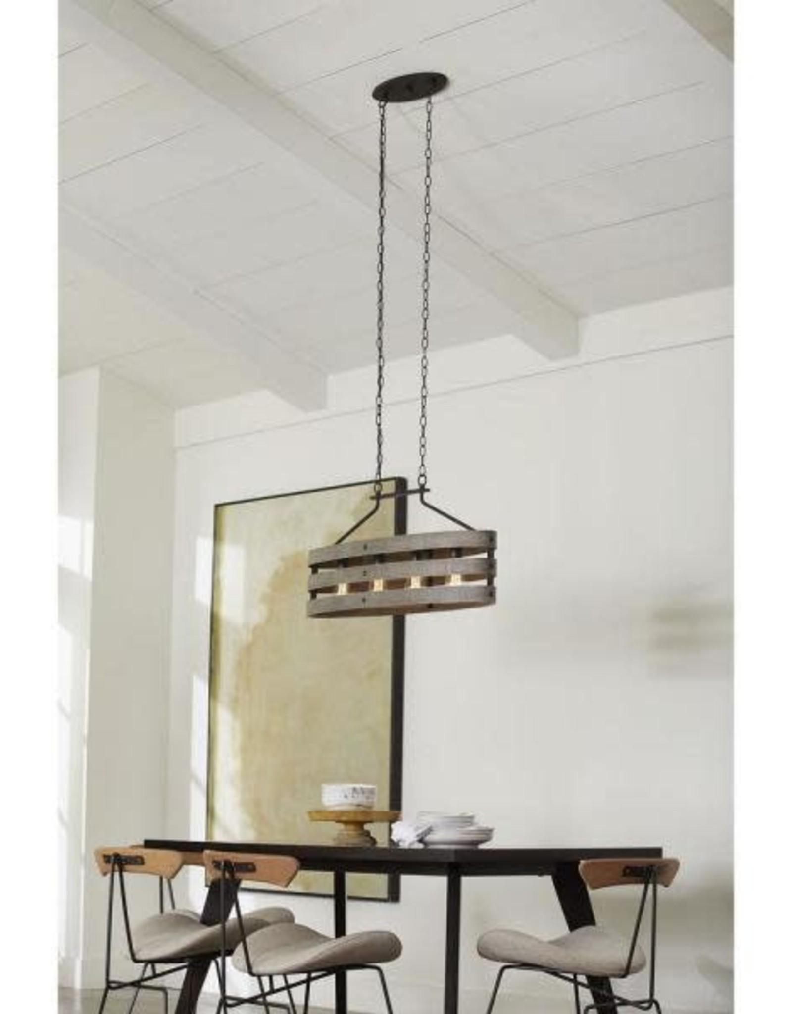 Progress Lighting Gulliver Collection Four-Light Linear Chandelier
