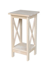 Solid Wood 24 in. H Unfinished Plant Stand