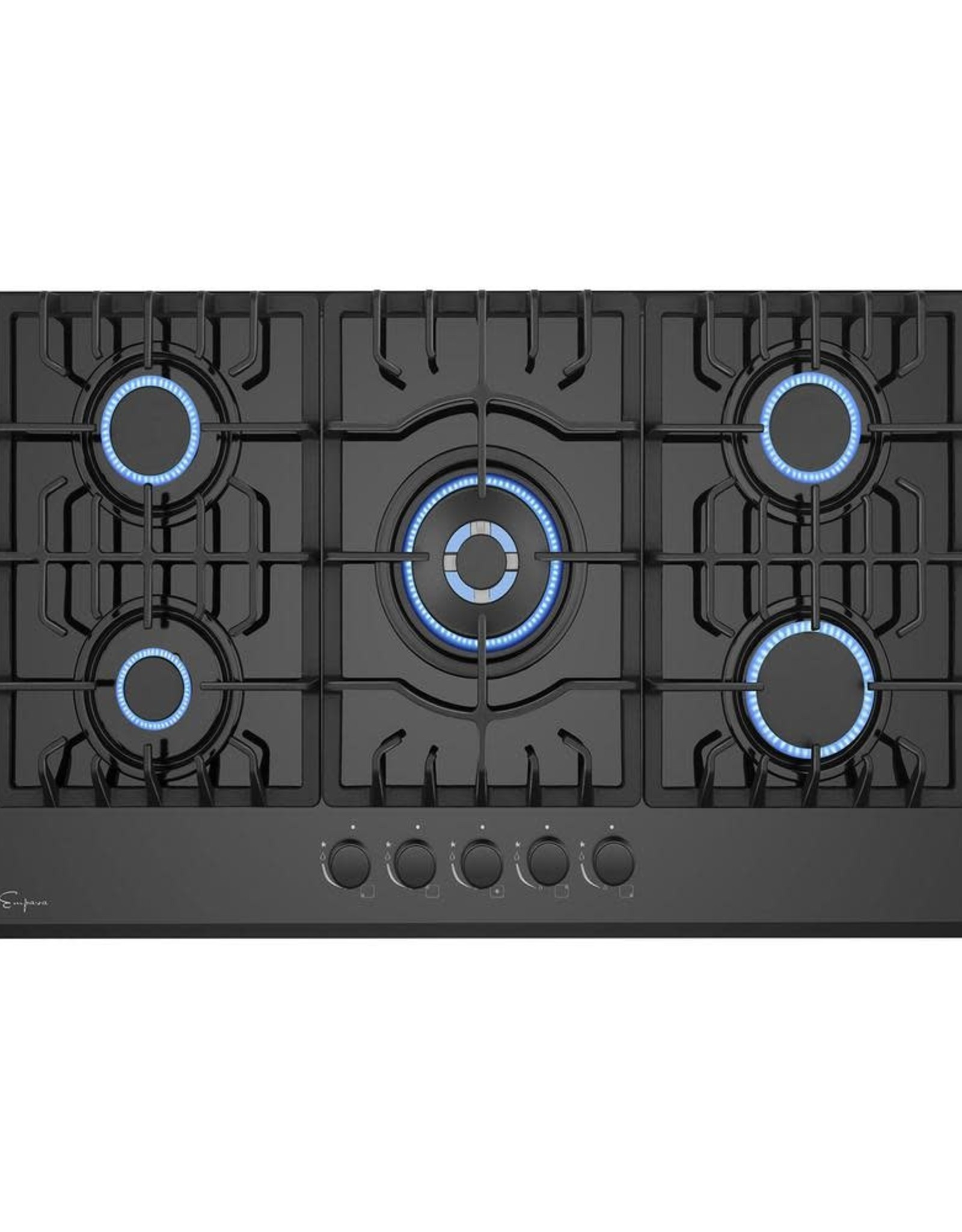 Empava 30 in. Gas Stove Cooktop with 5 Italy SABAF Burners in Black Tempered Glass