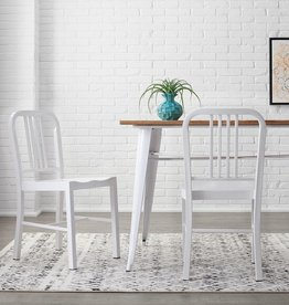 StyleWell Kipling White Metal Dining Chair (Set of 2) (15.94 in. W x 32.67 in. H)