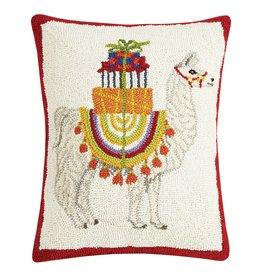 Peking Handicraft Holiday Llama Hook Pillow