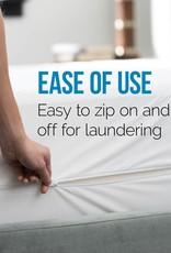 Lucid Bed Bug and Waterproof Cotton Blend Twin Encasement Mattress Protector