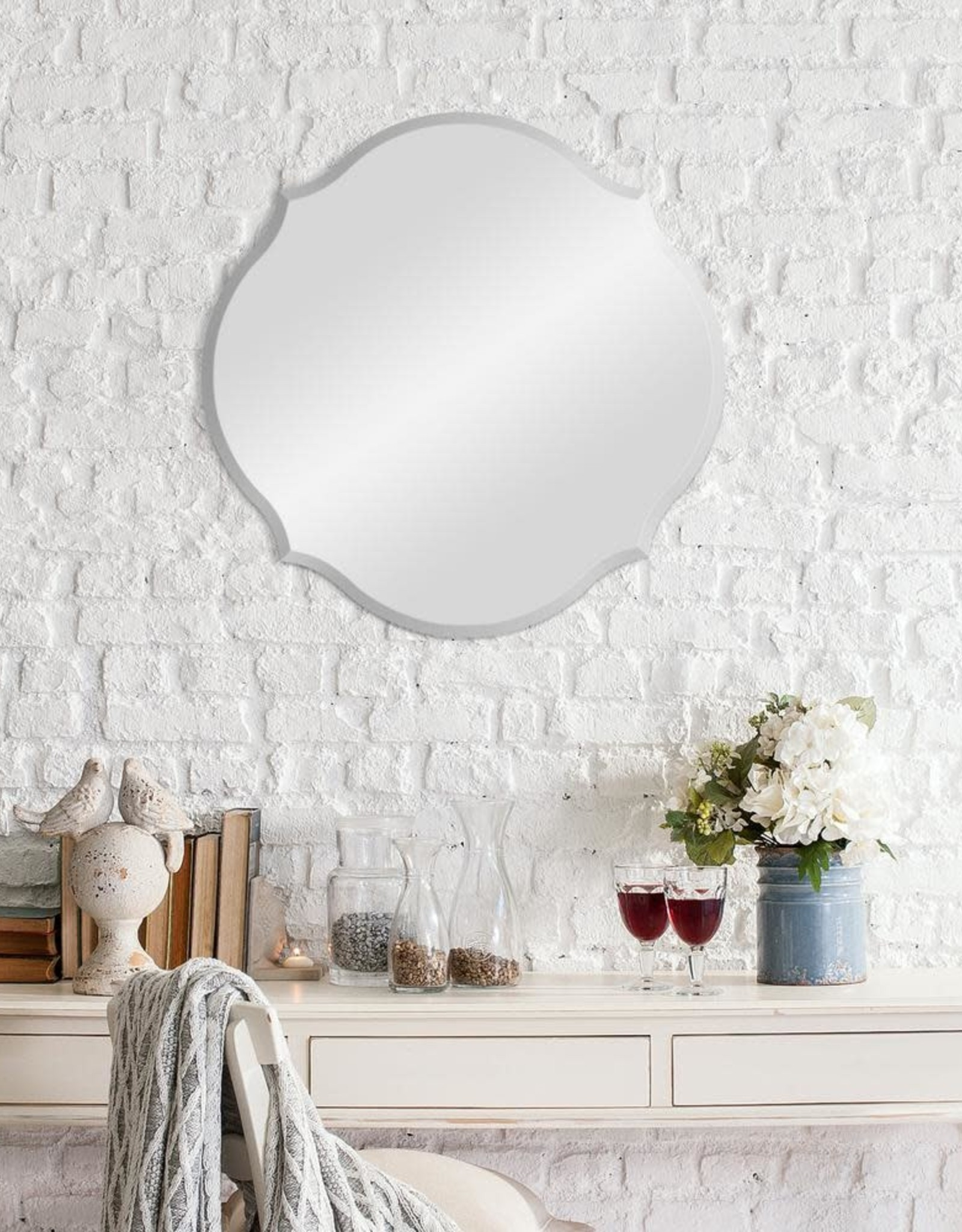 Pinnacle Medium Oval Beveled Glass Mirror (20.5 in. H x 20.5 in. W)
