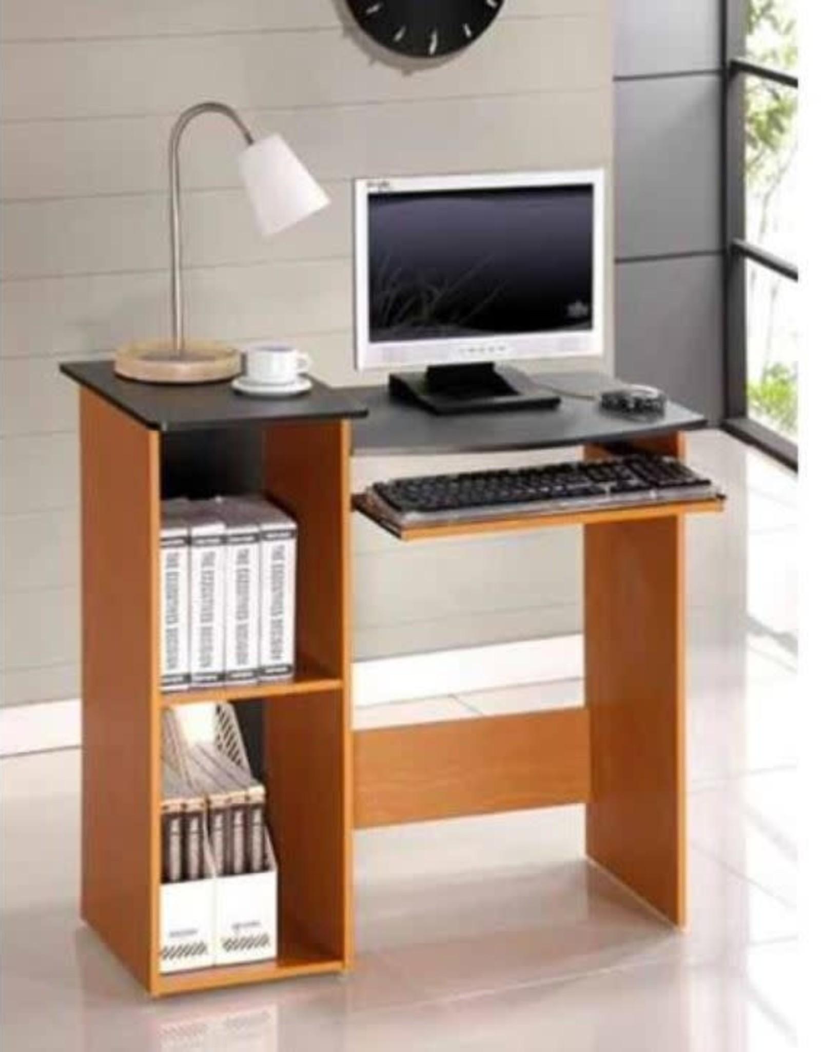 Furrino 33 in. Rectangular Light Cherry Computer Desk with Keyboard Tray