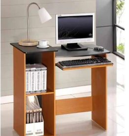 Furrino 33 in. Rectangular Light Cherry Computer Desk with Keyboard Tray