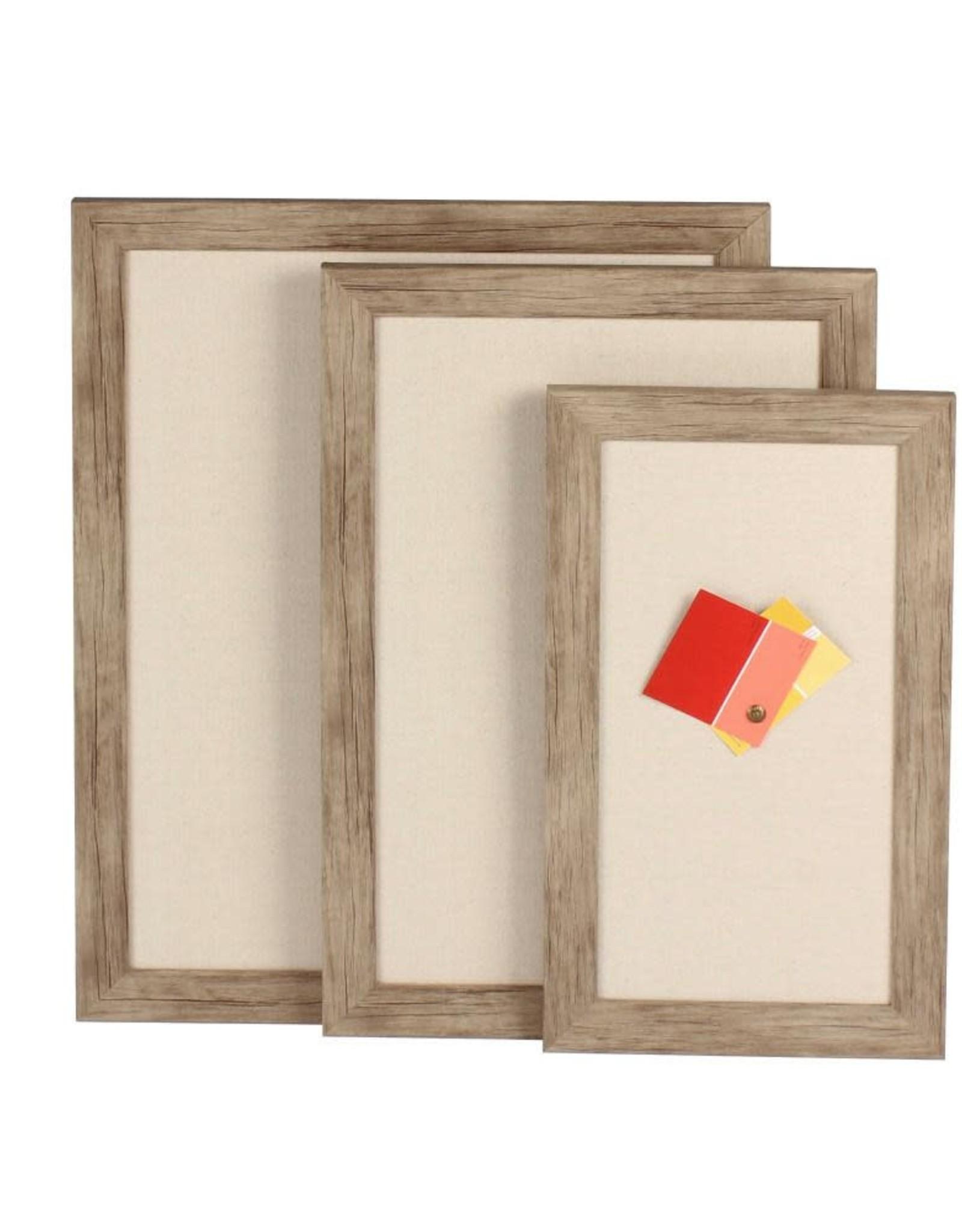 DesignOvation Beatrice Fabric Pinboard Memo Board