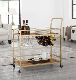 FirsTime Francesca Gold Bar Cart
