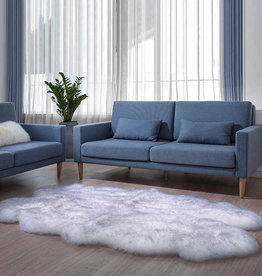 Windward Sheepskin Rug Gray