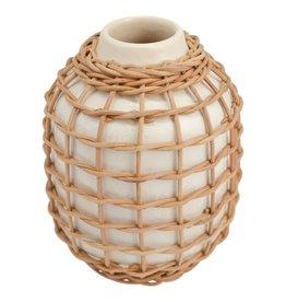 """Made Market Co. 8"""" Rattan Vase"""