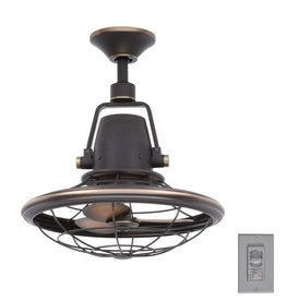 Home Decorators Collection Bentley II 18 in. Indoor/Outdoor Tarnished Bronze Oscillating Ceiling Fan with Wall Control