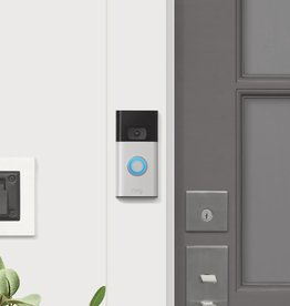 Ring 1080p Wi-Fi Video Wired and Wireless Smart Video Door Bell Camera, Works with Alexa, Satin Nickel (2020 Release)
