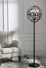 LNC 61 in. Black Indoor Sphere Shade Floor Lamps with Crystal Drops