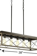 Progress Lighting Briarwood Collection Five-Light Linear Chandelier
