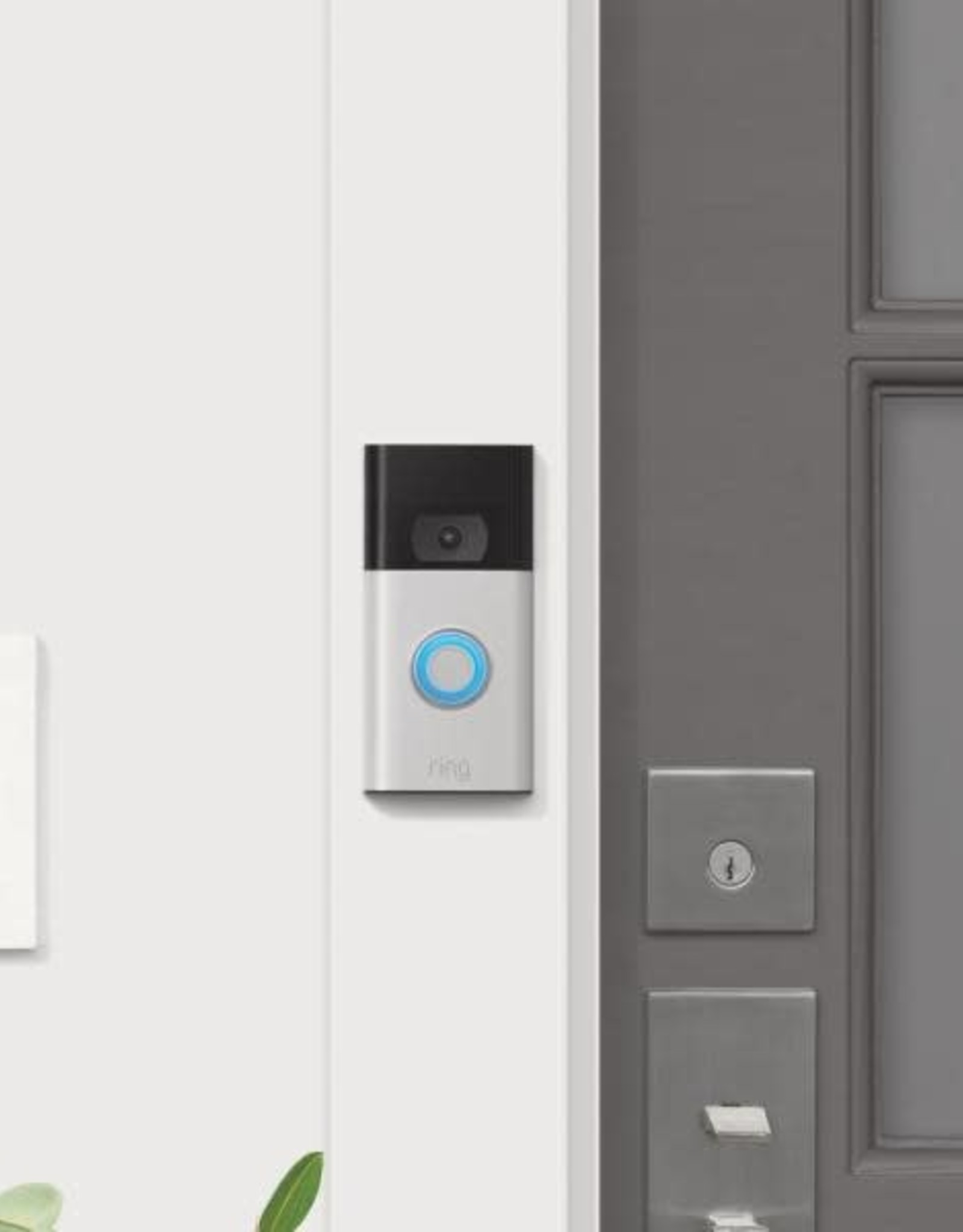 Ring 1080P Wired and Wireless Video Door Bell Camera, Satin Nickel (2020 Release) with Chime