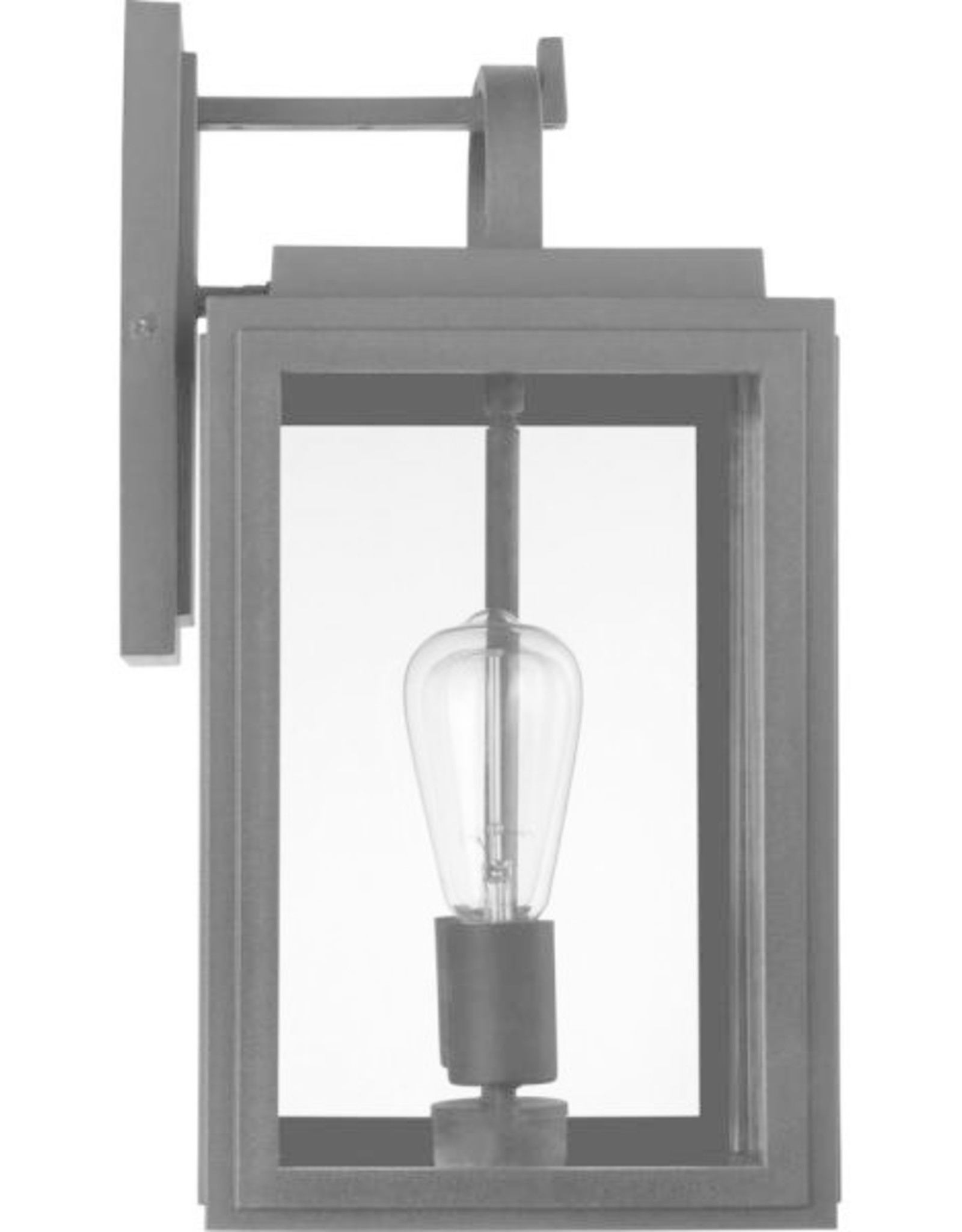 Progress Lighting Granbury 2-Light Black Outdoor Medium Wall Lantern Sconce