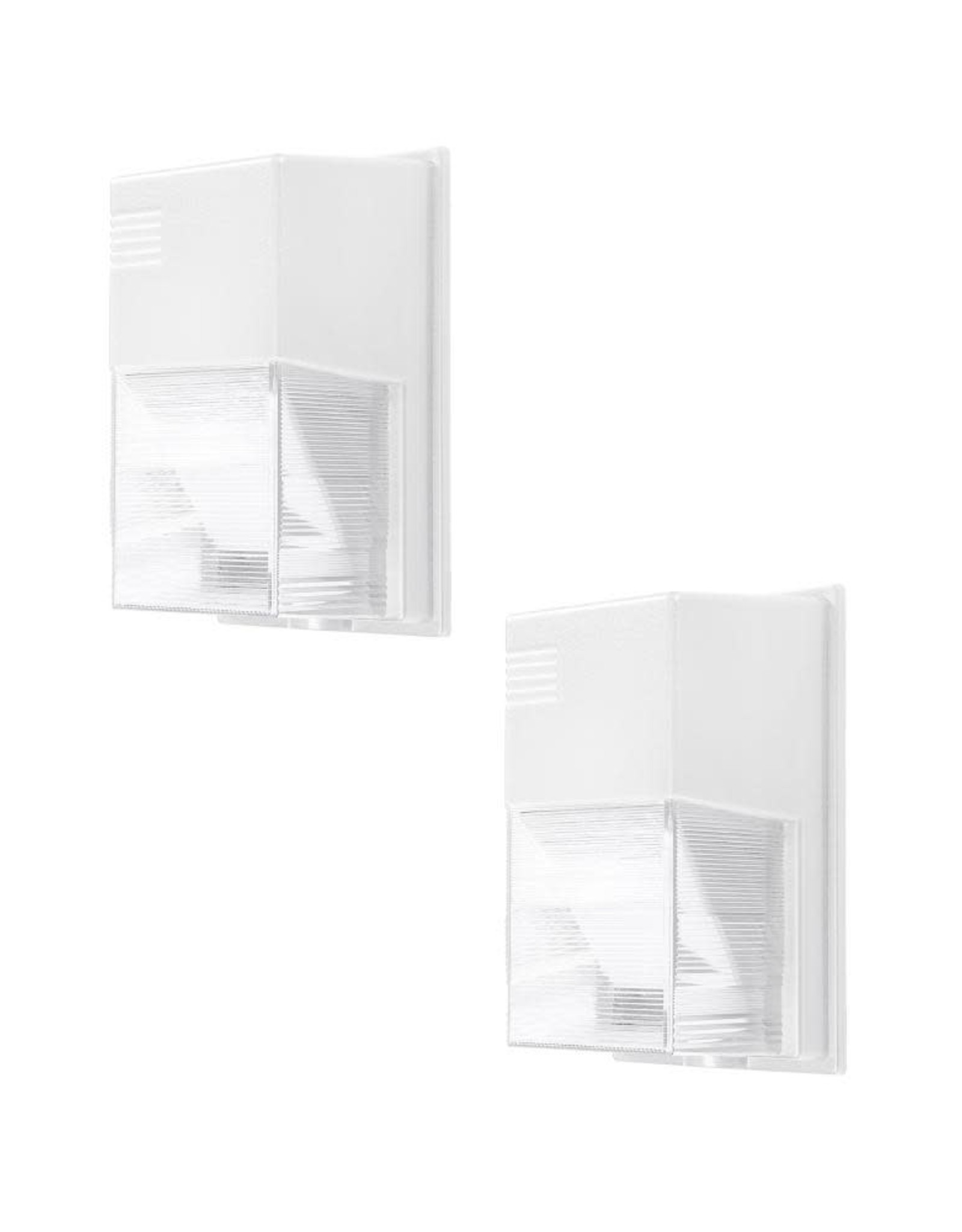 PROBRITE 150-Watt Equivalent White Integrated Outdoor LED Wall Pack, 2500 Lumens, Dusk to Dawn Outdoor Security Light