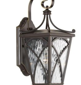 Progress Lighting Cadence Collection 1-Light Oil Rubbed Bronze 16.25 in. Outdoor Wall Lantern Sconce