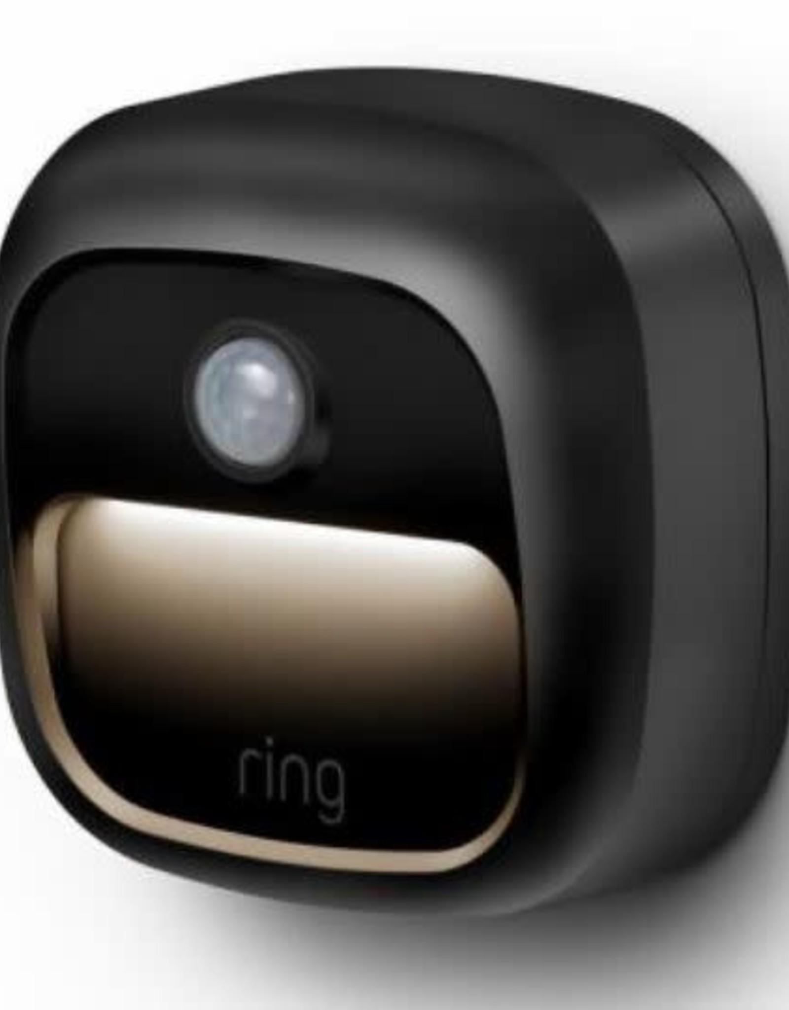 Ring Smart Lighting Battery Black Motion Activated Integrated LED Deck Step Light