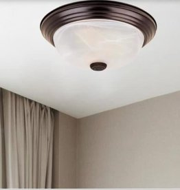 "Designers Fountain Decorative Flushmount 15"" Large 3-Light Oil Rubbed Bronze Ceiling Flush Mount"