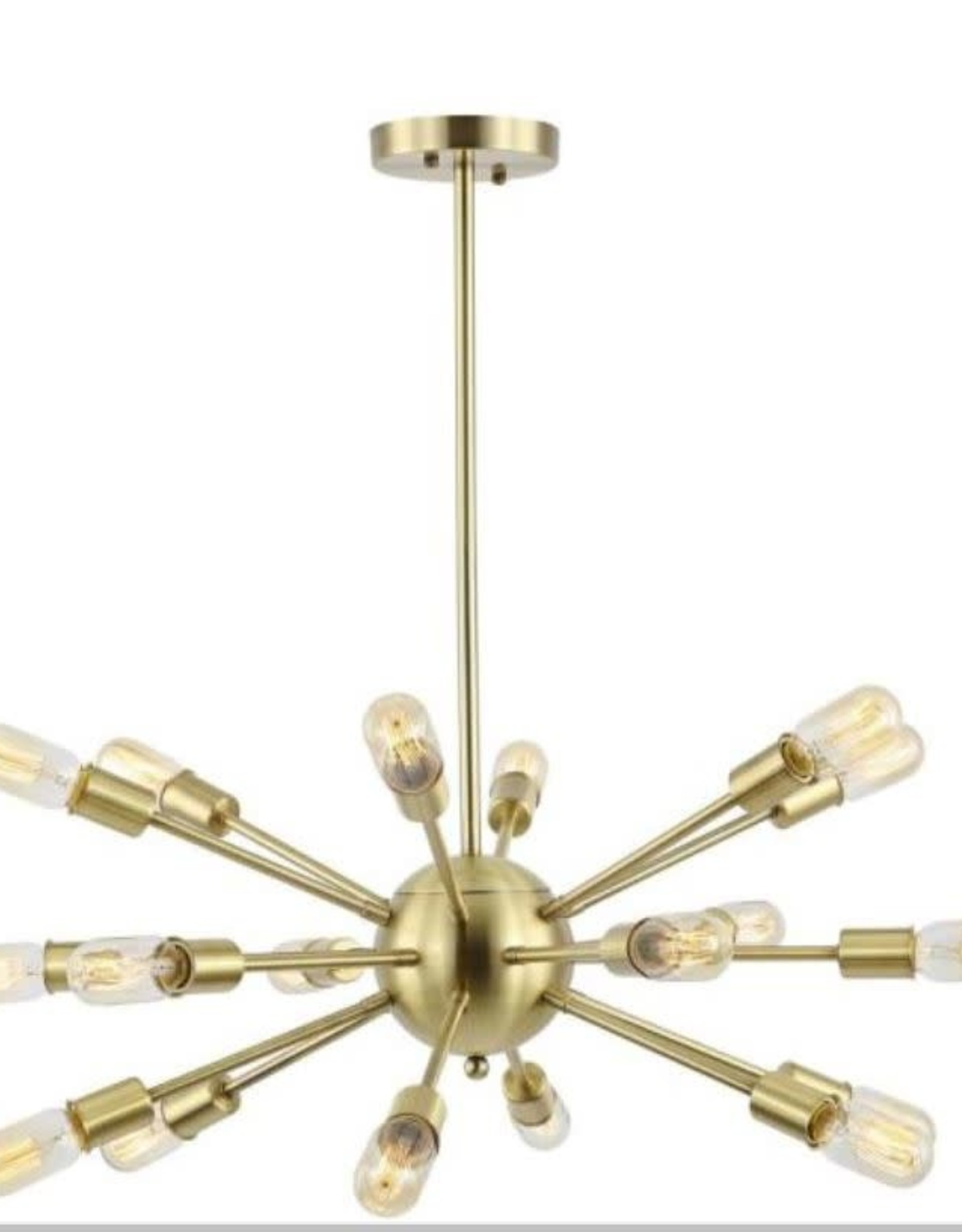 Light Society Sputnik Style Brass Chandelier