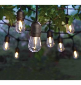 Hampton Bay 12-Light Indoor/Outdoor 24 ft. String Light with S14 Single Filament LED Bulbs