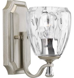 Progress Lighting Anjoux Collection 1-Light Silver Ridge Bath Light