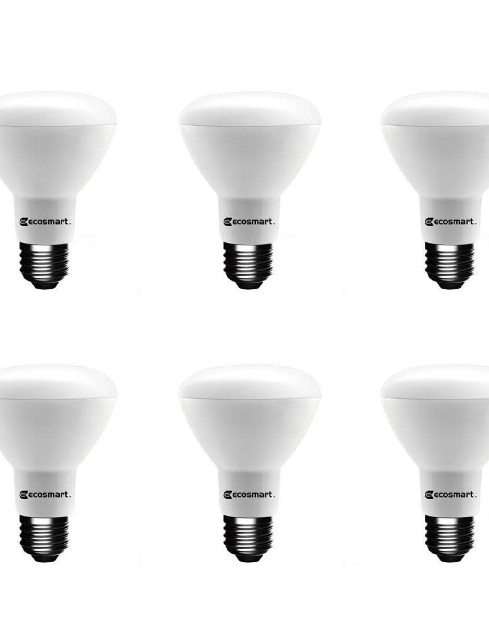 EcoSmart 75-Watt Equivalent BR20 Dimmable ENERGY STAR LED Light Bulb Daylight (6-Pack)