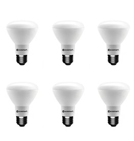 EcoSmart 75-Watt Equivalent BR20 Dimmable ENERGY STAR LED Light Bulb Daylight (6-Pack)