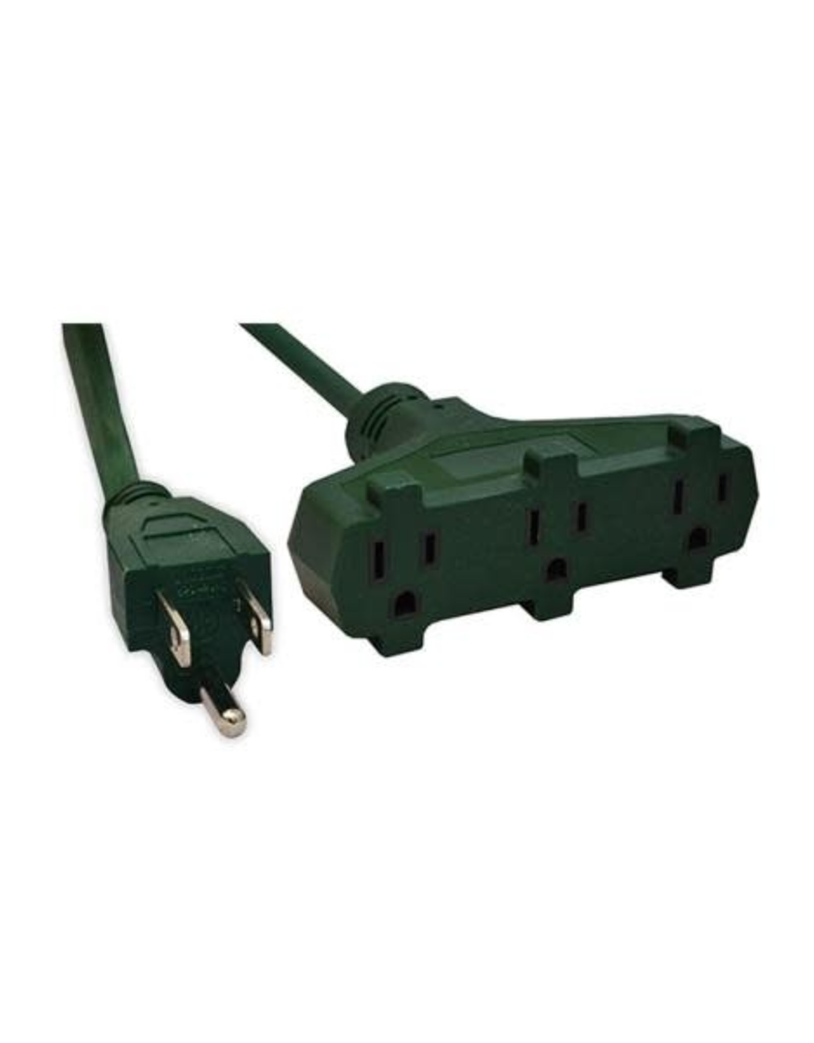 Go Green 8 ft. 16/3 3-Outlet Heavy Duty Extension Cord, Green