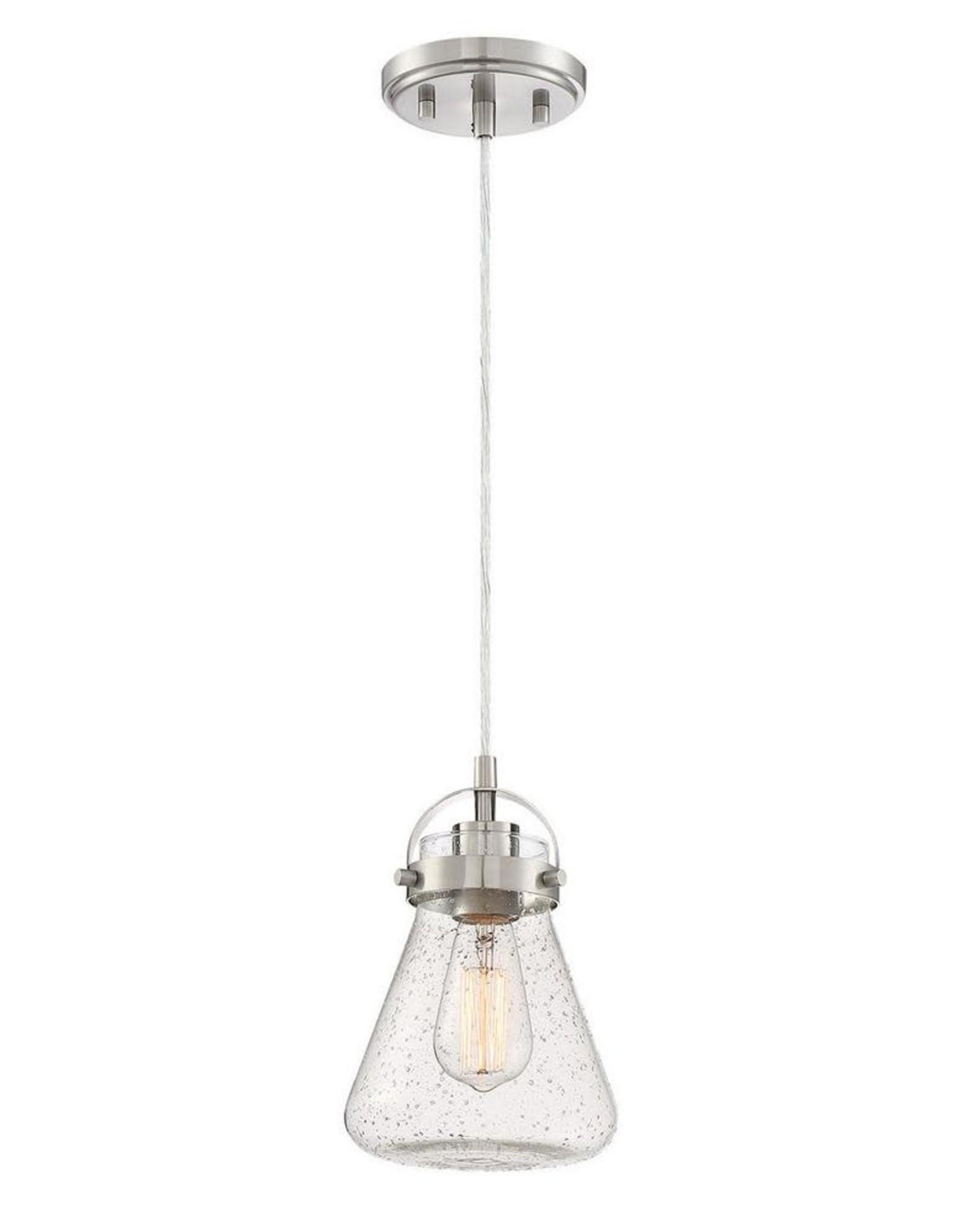 Home Decorators Collection 1-Light Brushed Nickel Mini Pendant