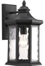 Progress Lighting Edition Collection 1-Light Black 15.9 in. Outdoor Wall Lantern Sconce