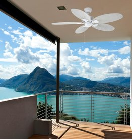 Hampton Bay Lillycrest 52 in. Indoor/Outdoor Matte White Ceiling Fan