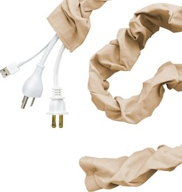 Cordinate 6 ft. Decor Fabric Cord Cover, Champagne