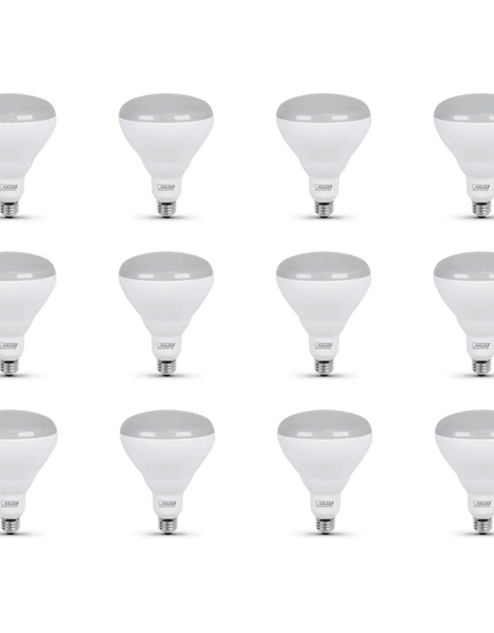 Feit Electric 65-Watt Equivalent BR40 Dimmable CEC ENERGY STAR Enhance 90+ CRI Recessed Flood LED Light Bulb, Bright White (12-Pack)