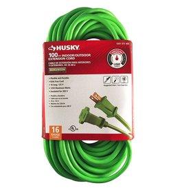 Husky 100 ft. 16/2 Indoor/Outdoor Extension Cord, Green