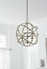 Home Decorators Collection Sarolta Sands 3-Light Antique Silver Orb Chandelier
