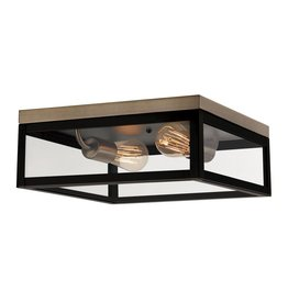 Globe Electric Verona 2-Light Dark Bronze Flush Mount