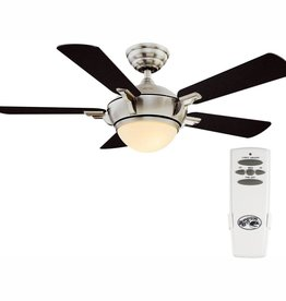Hampton Bay Midili 44 in. LED Indoor Brushed Nickel Ceiling Fan with Light Kit and Remote Control