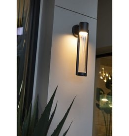 Progress Lighting Z-1030 Collection 1-Light Black 20 in. Outdoor Integrated LED Wall Lantern Sconce