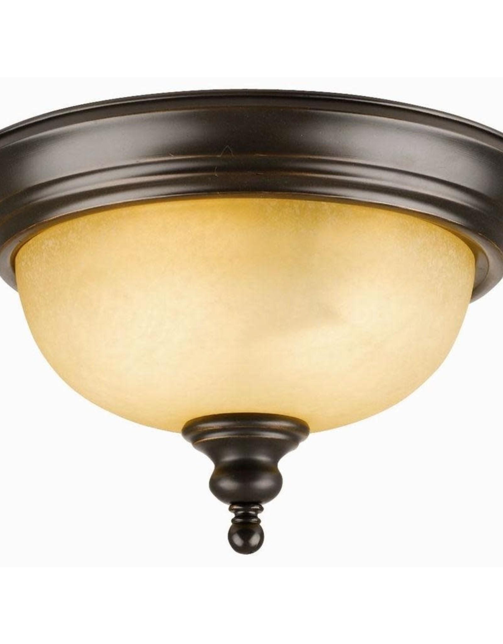 Design House Bristol 2-Light Oil Rubbed Bronze Ceiling Semi Flush Mount Light