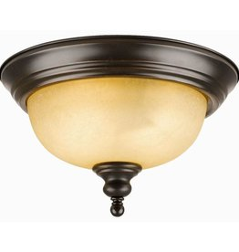 Design House Bristol 2-Light Oil Rubbed Bronze Ceiling Semi Flush Mount Light