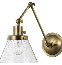 Progress Lighting Hinton 1-Light Vintage Brass Swing Arm Wall Bracket