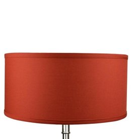 FenchelShades 17 in. W x 8 in. H Paprika/Nickel Hardware Drum Lamp Shade