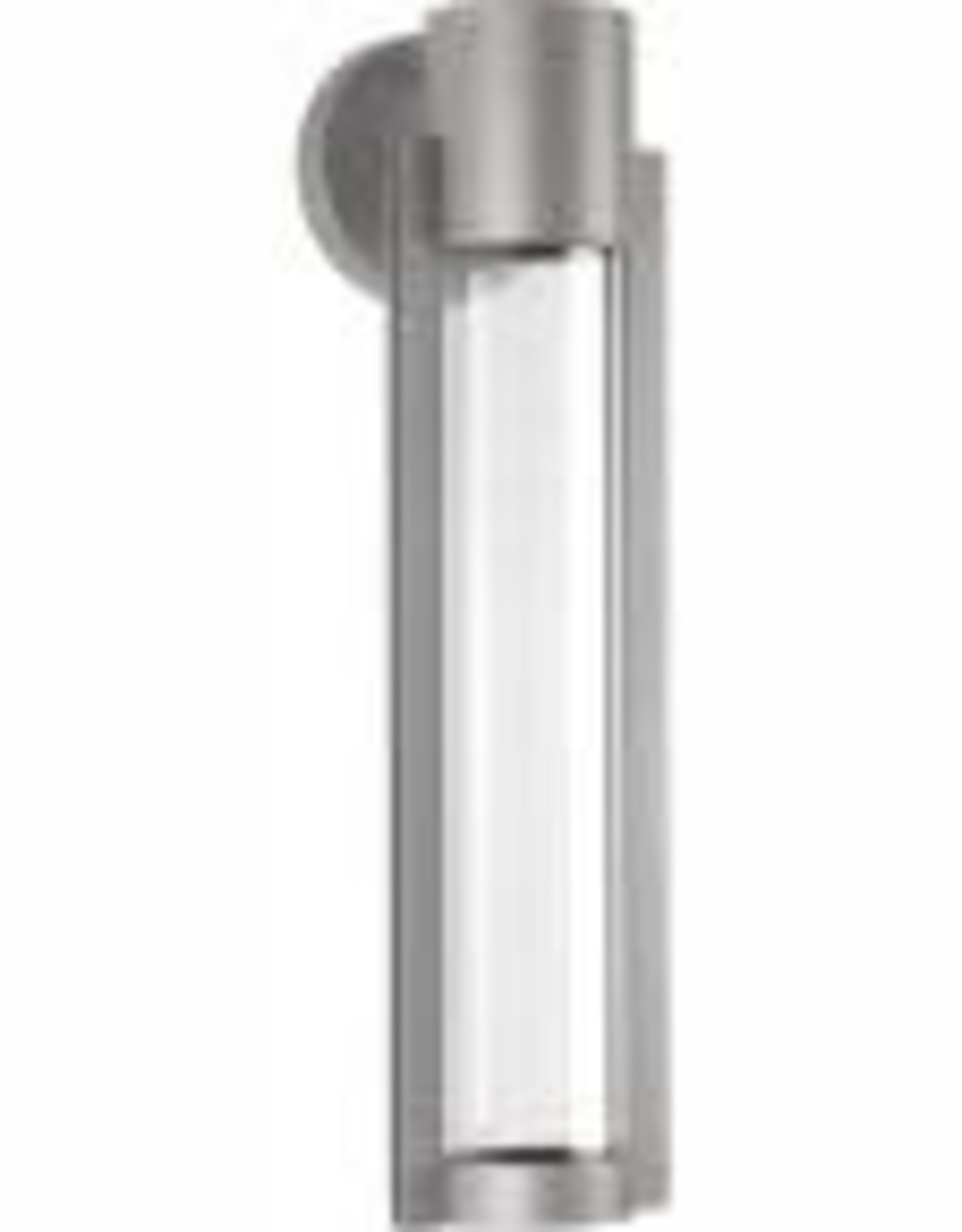 Progress Lighting Z-1030 Collection 1-Light Metallic Gray 20 in. Outdoor Integrated LED Wall Lantern Sconce