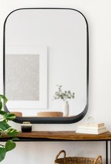 Home Decorators Collection Medium Rectangle Black Modern Mirror with Rounded Corners (32 in. H x 24 in. W)