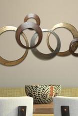 Stratton Home Decor Metallic Rings Wall Decor