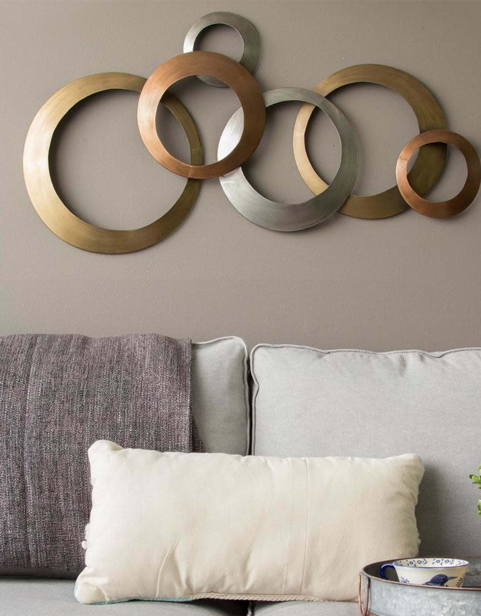 Stratton Home Decor Multi Metallic Rings Metal Wall Decor