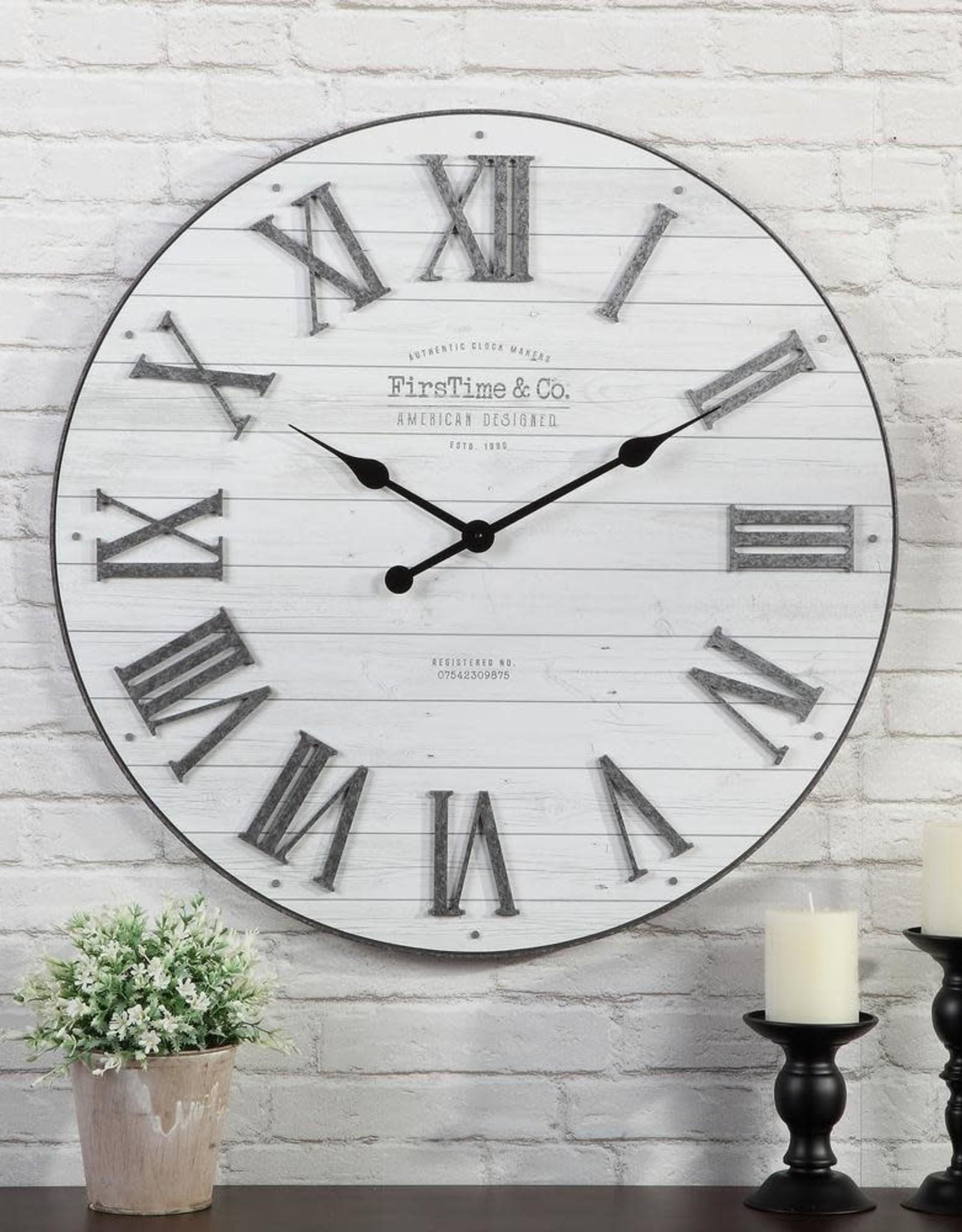 FirsTime 27 in. Emmett Shiplap Clock