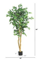 Nearly Natural 5 ft. High Indoor Ficus Tree