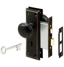 Prime-Line Steel, Classic Bronze, Interior Door Lock Lock-Set